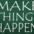 Make things happen symbol - 图库照片