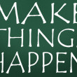 Make things happen symbol - Stockfoto