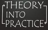 Theory into practice symbol — Stock Photo