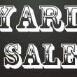 Yard sale title — Stock Photo