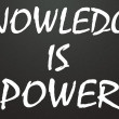 Knowledge is power title — Stock Photo