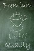 Premium coffee sign — Stock Photo