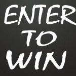 Enter to win symbol — Stock Photo #24802559