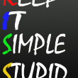 Keep it simple stupid symbol — Stock Photo