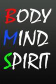 Body mind spirit symbol — Stock Photo
