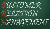 Customer relation management symbol — Stock Photo