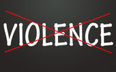 Anti-violence symbol — Stock Photo