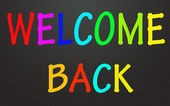 Welcome back symbol — Stock Photo