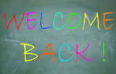 Welcome back symbol — Foto Stock