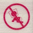 Baby suffocation danger sign  — Stock Photo