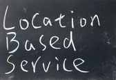 Location based service sign — Stock Photo