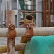 Stock Photo: Construction site scaffold fastener