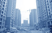 Apartment building site — Foto Stock