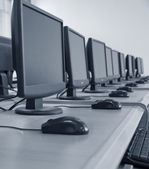 Computer classroom — Stock Photo