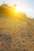 Rock climbing wall — Stock Photo