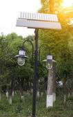 Small size solar streetlamp — Stock Photo