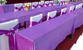 Purple ribbon  chair — Stock Photo