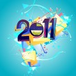 Happy new year 2011 greeting — Stock Vector