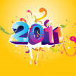 New year 2011 poster — Stock Vector