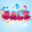 Sale promo vector and background - Stock Vector