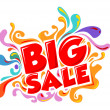 Stock Vector: Big sale promo department store