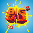 Stock Vector: Big sale promo poster