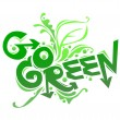 Go Green poster campaign — Stock Vector #12483278