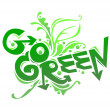 Stock Vector: Go Green poster campaign