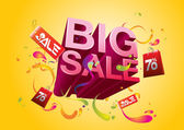 Big sale promo department store — Stock Vector