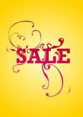 Vector summer sale design template — Stock Vector