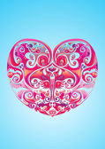 Valentine love heart icon — Vettoriale Stock