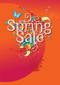 Spring sale promo campaign poster — Stock Vector