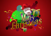 Santa Claus Funny cartoon and — Stock Vector
