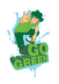 Go Green poster campaign — Stock Vector