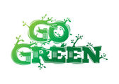 Go green logo campaign — Stock Vector