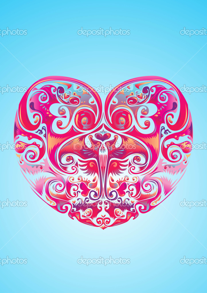 Valentine love heart icon poster and greeting — Stock Vector #12483251
