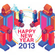 Happy new year 2013 poster and cover — Stock Vector