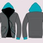 Vector jacket design template — Stock Vector
