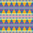 Colorful aztec navajo pattern — Stock Vector