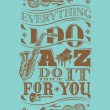 Jazz artwork vector — Stockvectorbeeld