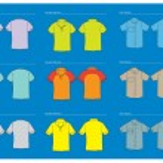 Vector t shirt template — Stock Vector