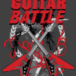 Guitar battle poster — Stock Vector