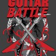 Guitar battle poster — Stockvektor