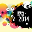 Stock Vector: Happy new year poster 2014
