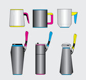 Vector cup and tumbler — Stock Vector