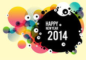 Happy new year poster 2014 — Stock Vector