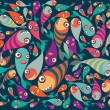 Beautiful collection of tropical fish — Stock Vector