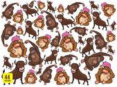 Funny animal cartoon — Stock Vector