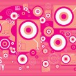 Turntable dj set abstract composition — Vector de stock