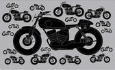 Motorbike race pattern wallpaper — Stockvektor